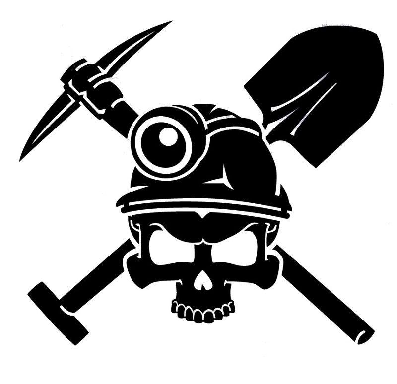 Coal Miner Decal Miner Skull Decal Crafts2 Pinterest