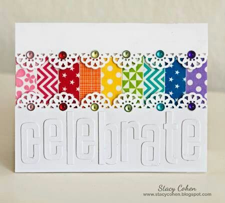 .So colorful, and a g reat way to use paper scraps.