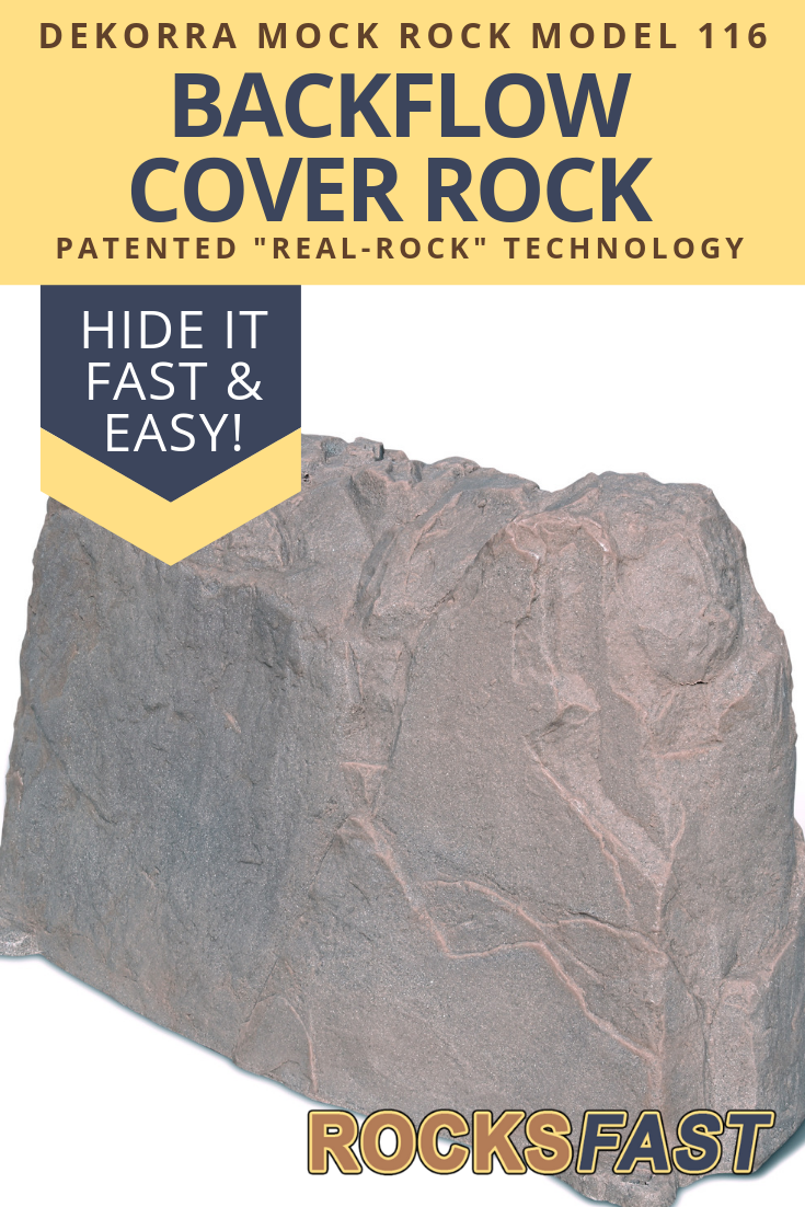 Dekorra Mock Rock Model 116 Fake Rock Backflow Cover Fake Rock Faux Rock Irrigation Valve