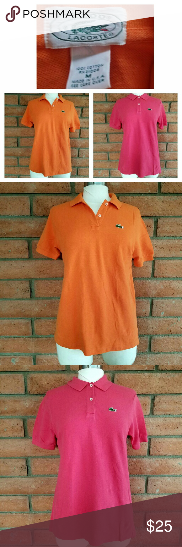 Lacoste Polo shirt 2 bundle of lacoste Polo shirt. In good condition Lacoste Tops