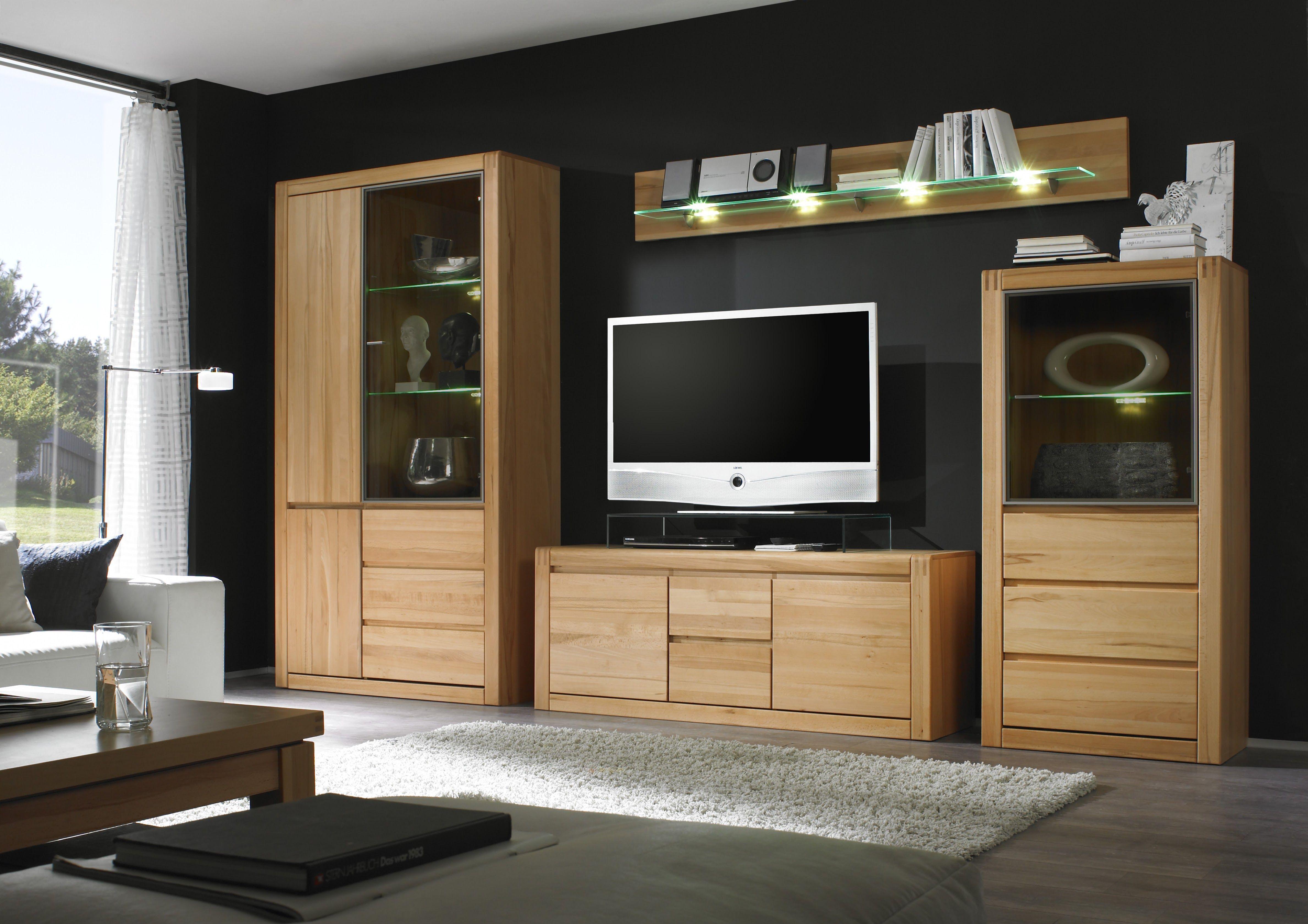 Moderne Wohnzimmerschränke ~ Wohnwand eiche bianco madeira 1 wohnzimmerschrank holz teilmassiv