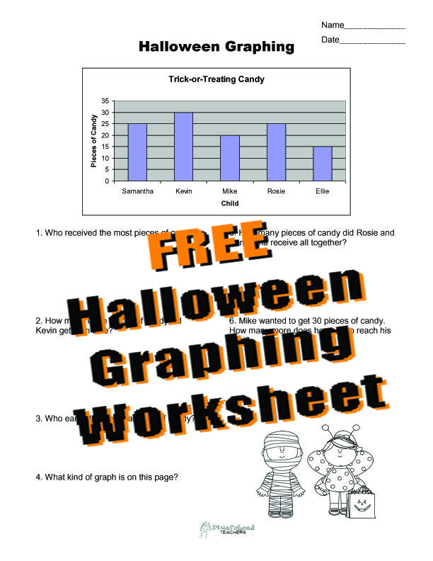 Printable Worksheets printable bar graph worksheets : A free printable Halloween bar graph practice page (worksheet) for ...