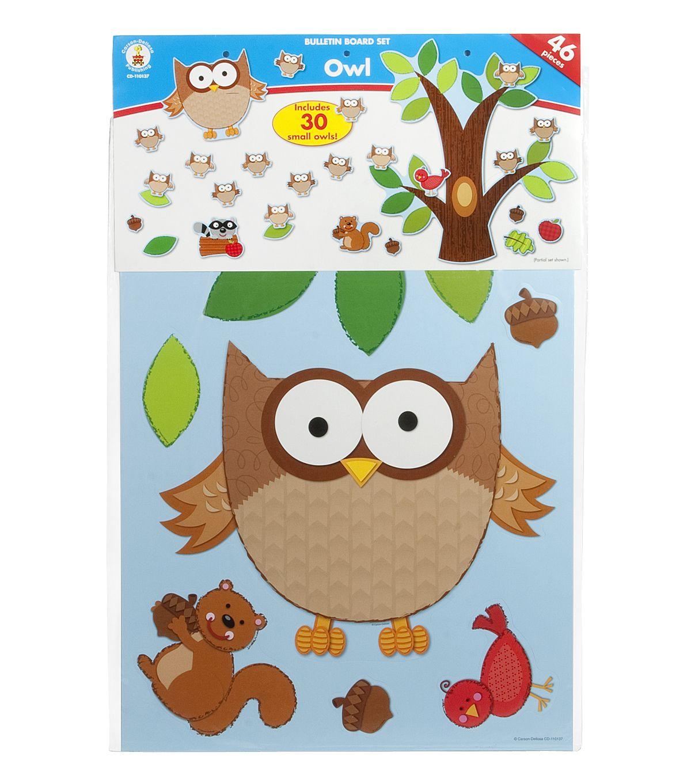 Carson Dellosa Owl Bulletin Board Set Hi Res