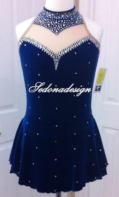 Dark Blue Figure Skating Dresses