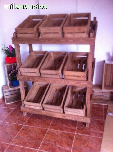 muebles palets cajas fruta para tiendas 160654855_5jpg - Muebles Con Cajas De Fruta