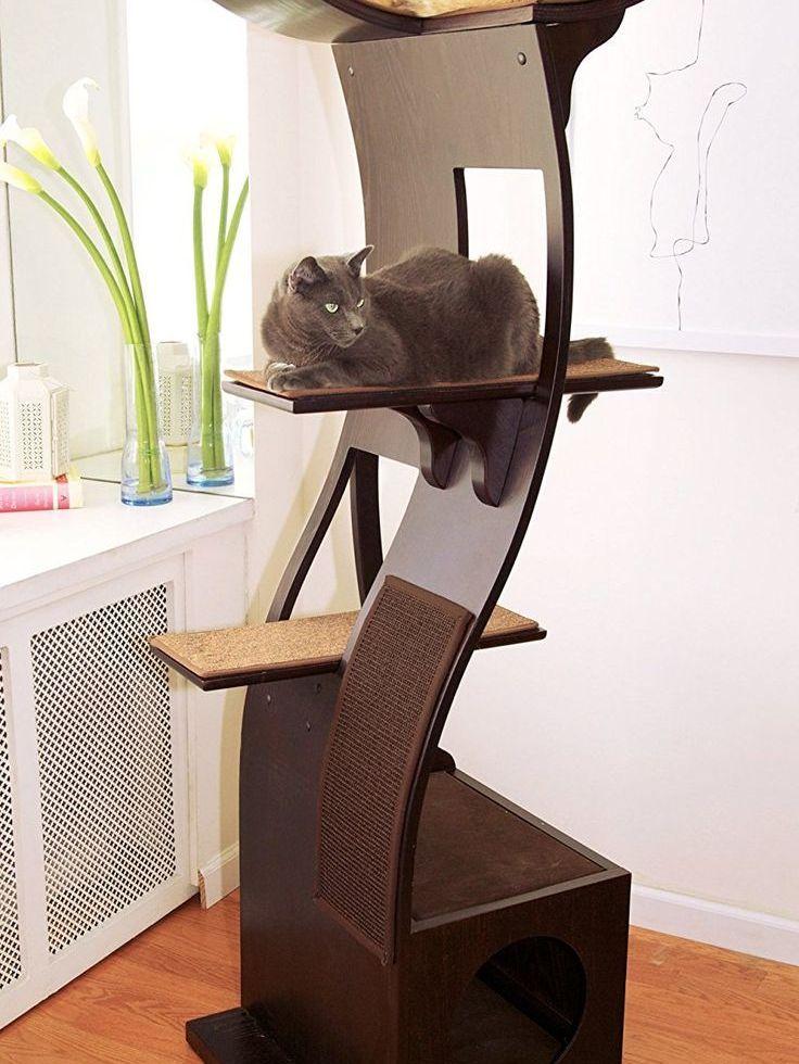 European Designer Cat Tower Wood Beauty Moderne