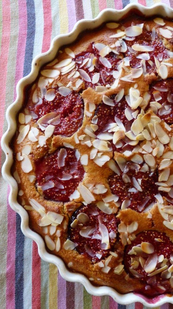 Gâteau moelleux aux amandes et aux figues caramélisées (sans gluten)