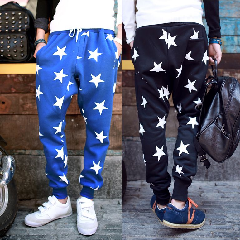 2014 NEW men printed drop crotch harem skinny sweatpants sports baggy pants  mens casual hip hop. Pantalones De HombresModa ... 02351fe3474