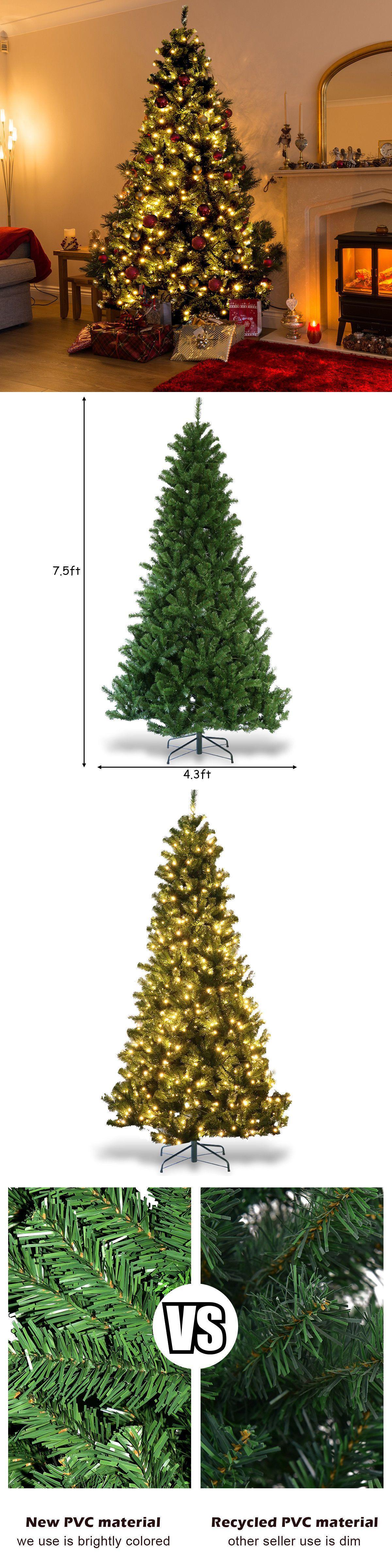 Artificial Christmas Trees 117414: 7.5Ft Pre-Lit Pvc Dense ...