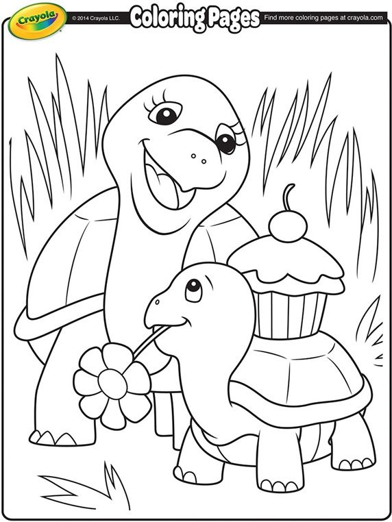 Turtle Mommy on crayola.com | Crayola coloring pages ...