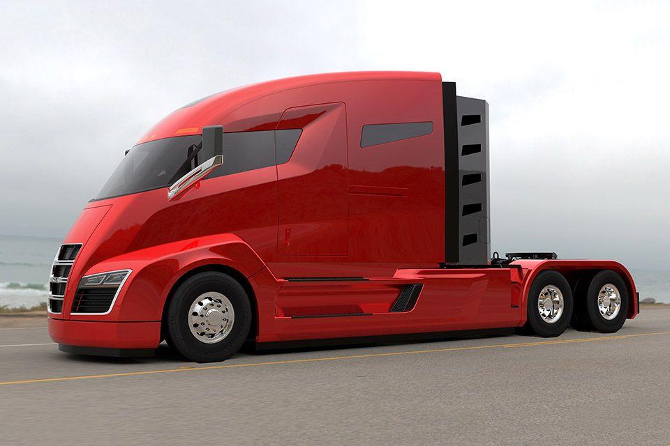 Nikola One Electric Semi Truck Electric Truck Electric Semi