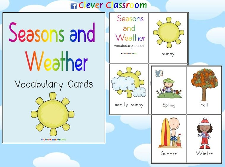 weather a camping we will go vocabulary cards kindergarten science elementary science. Black Bedroom Furniture Sets. Home Design Ideas