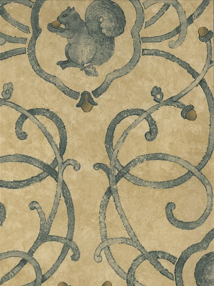 Squirrel Wallpaper Charles Faudree Wallcovering Americanblinds