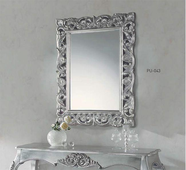 espejo rectangular para consola espejos plateados espejos dorados espejos rusticos espejos barrocos - Espejos Plateados
