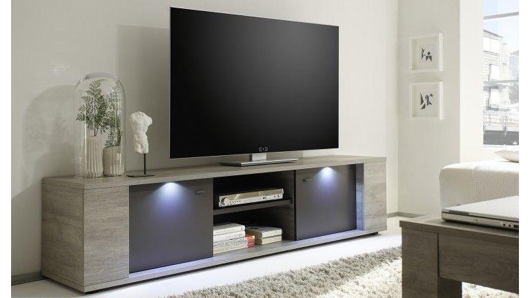 Meuble Tv 2 Portes Avec Éclairage Shepparton Prix Meuble Tv