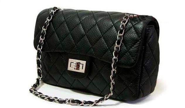 Black Chain Purse w  Chanel inspired Quilt patterns  0bae51a5b2ccf