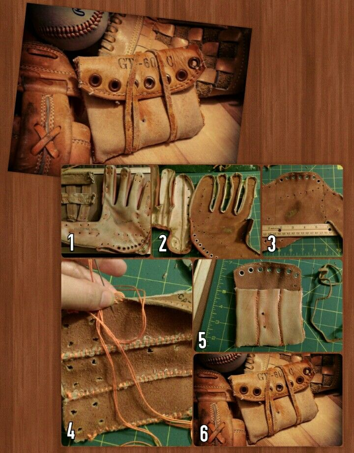 f7f9282e5f3 How to make a wallet out of an old baseball glove. Things you ll ...