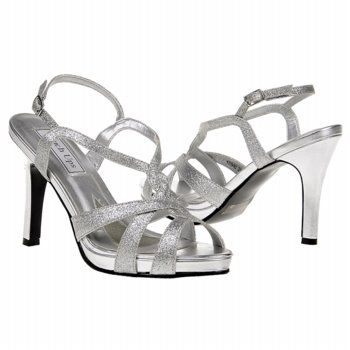 Touch Ups by Benjamin Walk Dina Shoes (Silver) - Women's Wedding Shoes - 9.0 M