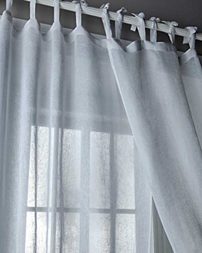 Pin By Donna Heath On Curtians Curtains Tie Top Curtains White