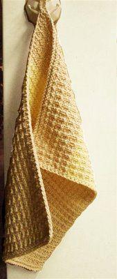 Leftover Towels dishcloth, free knitting pattern using cotton yarn