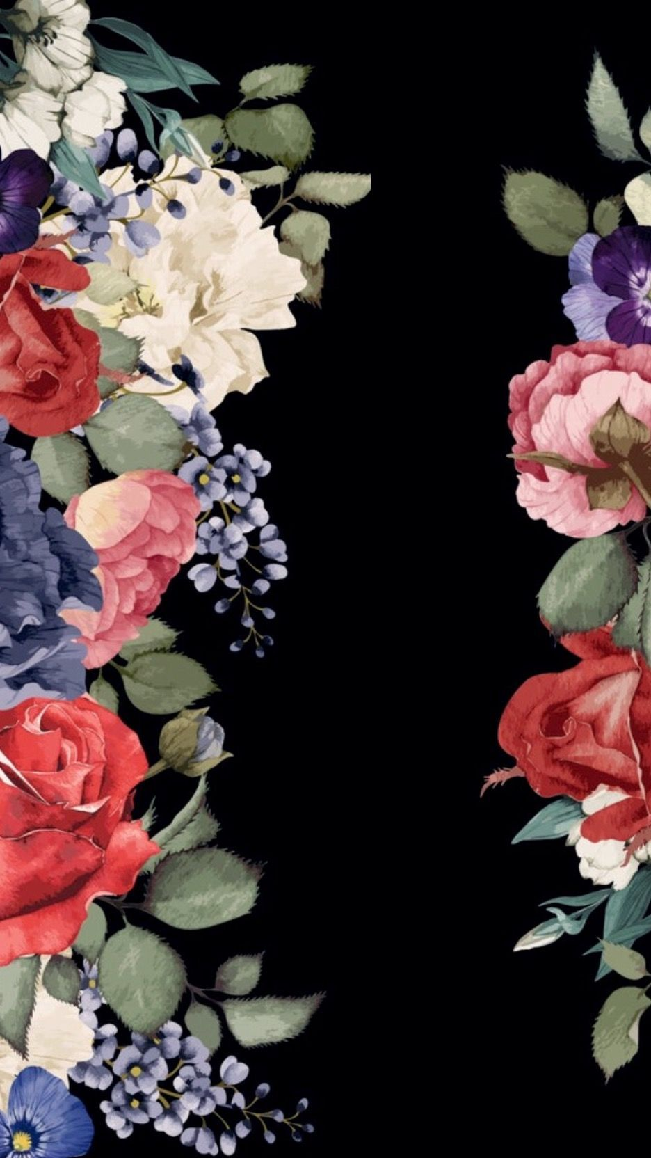 Beautiful Flower Black Background For Iphone Wallpaper Home Or Lock Sc Amazing Pretty Wal Christmas Aesthetic Vintage Cartoon Christmas Wallpaper