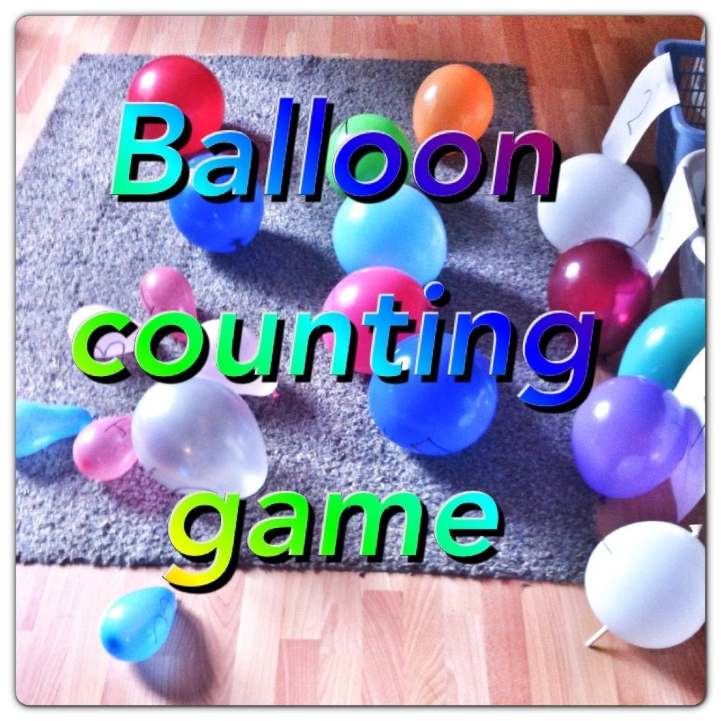 Number Recognition Ballon Counting Game