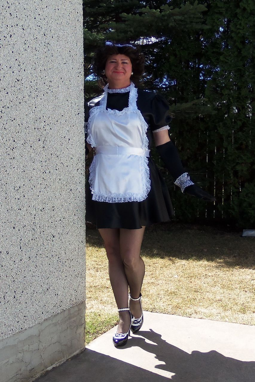 White apron lace trim - French Maid Uniform The Dress Is Made From Black Stretchy Satin Material And Is Adorned