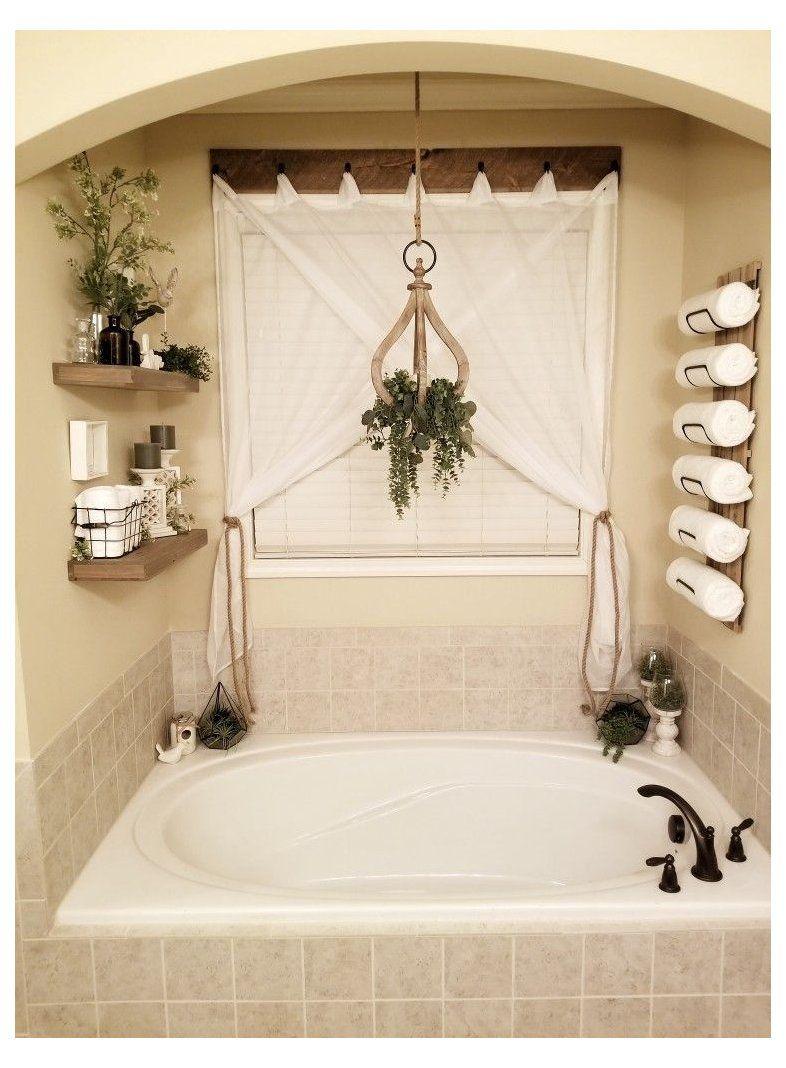 Master bathroom master bath tub decor Garden tub dress