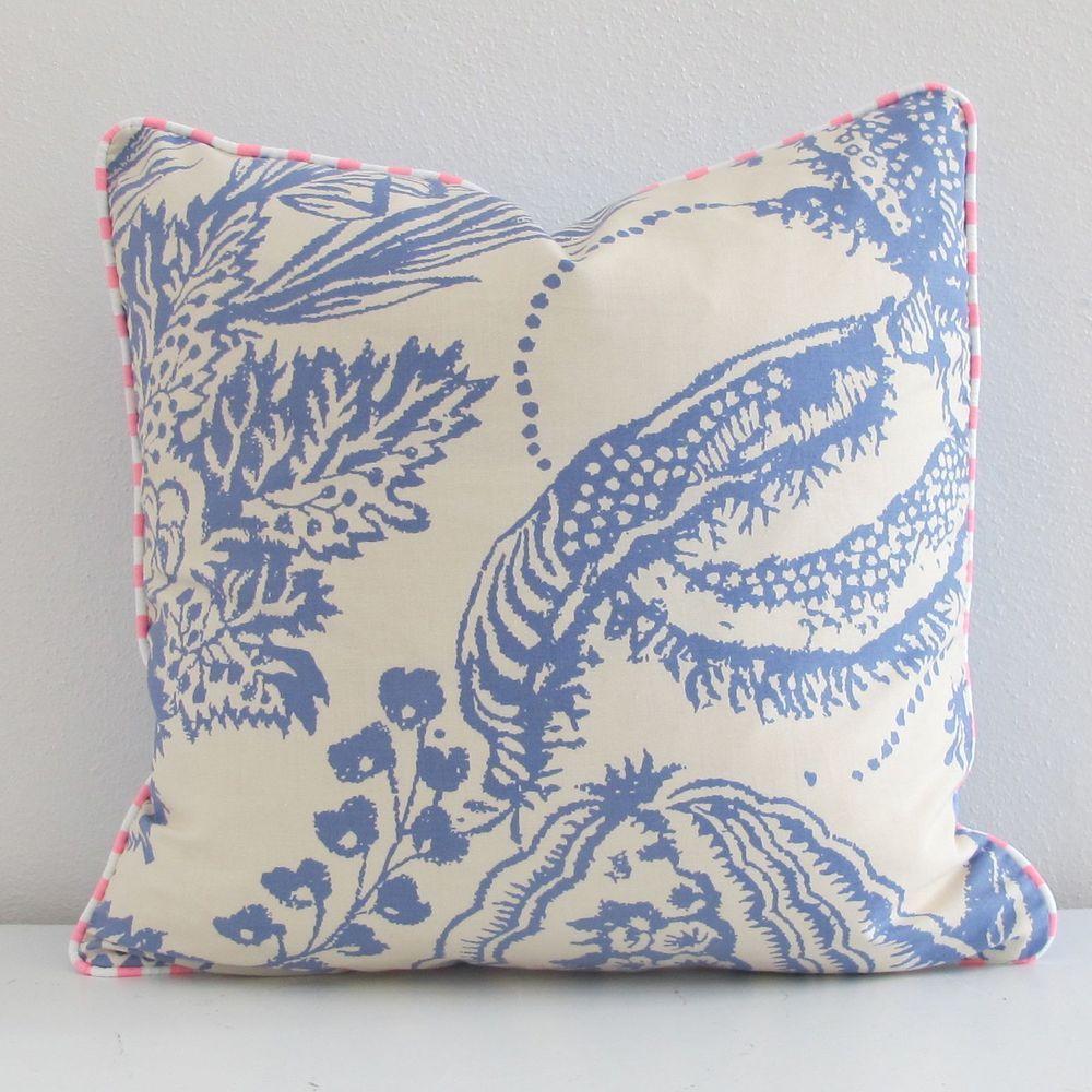 Manuel Canovas Palm Cushion. Hunt and Bow