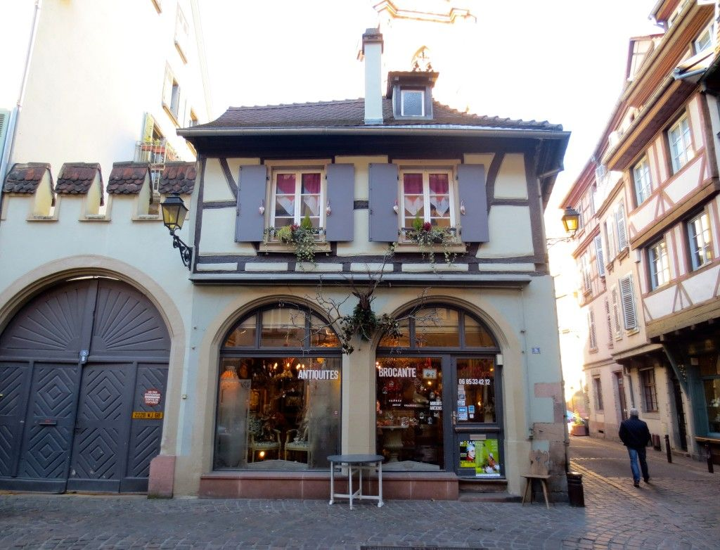 Pretty shop front in Colmar, France, Alsace