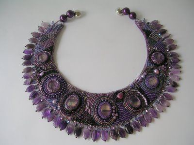 PerlenSusa: Kette; Bead Embroidery