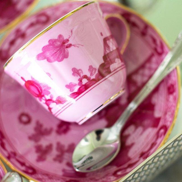 Meu cafezinho preferido  @manifatturarichardginori em um mood #pink