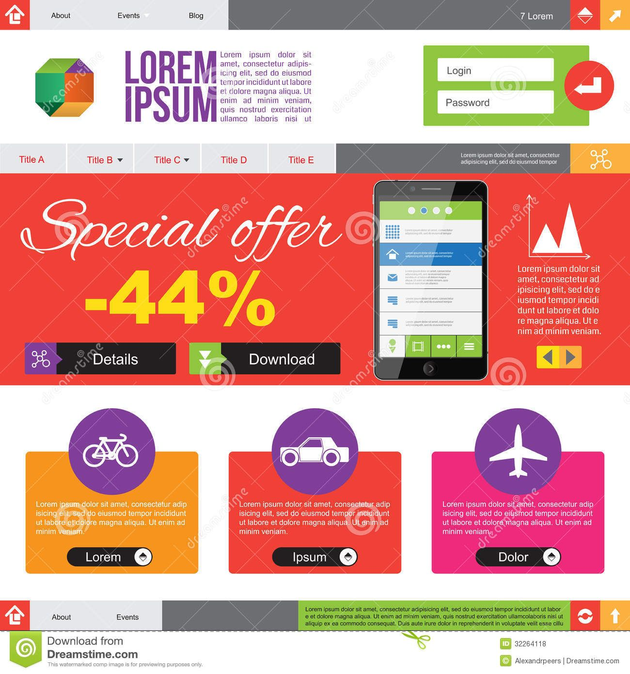 flat design templates free - Google Search | ppt | Pinterest | Flat ...