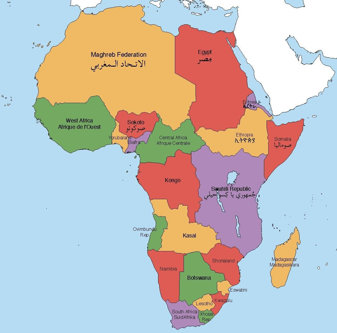 Alternate Africa Map Africa in an Alternate Timeline (i.redd.it) submitted by iemaps to
