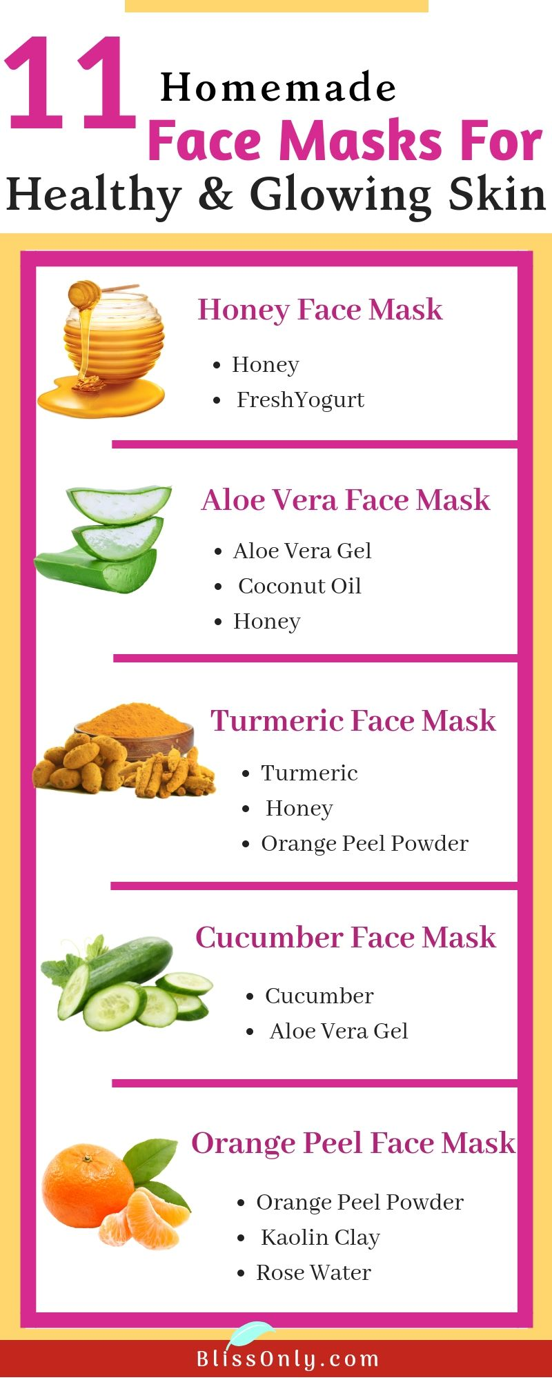 Photo of 11 Simple Homemade Face Masks For Glowing Skin – BlissOnly