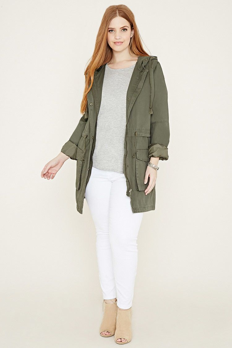 Utility Jacket | This says plus size, but whatevs.
