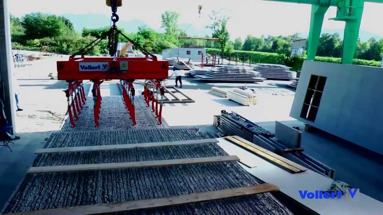 Fabricação de Paredes Duplas e Pré lajes Altamente Automatizado | Voller...