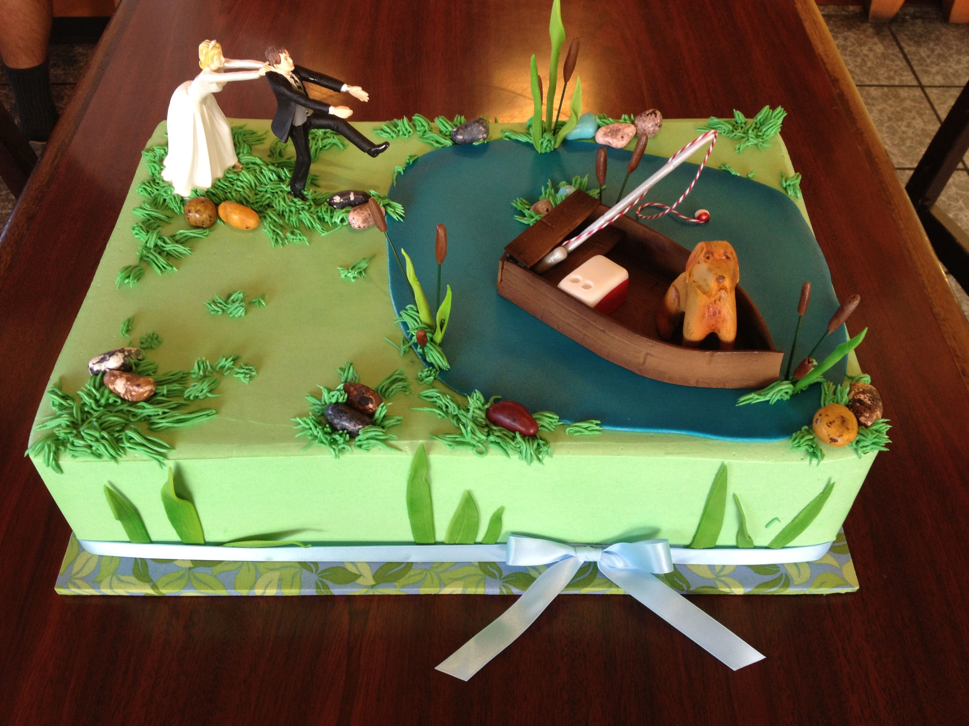Groom Gone Fishing Sheet Cake Wedding Sheet Cakes Fall Wedding