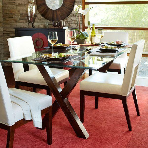 Pier Imports Bennett Dining Table Base Mahogany Brown - Meuble pier import pour idees de deco de cuisine