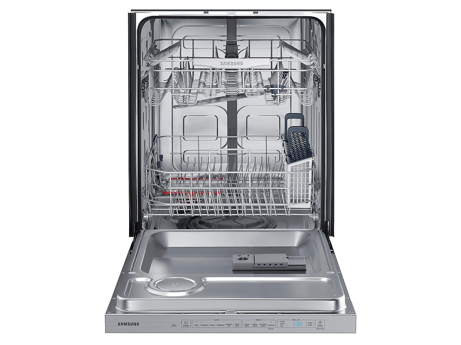 Stormwash Dishwasher With Top Controls In White Samsung