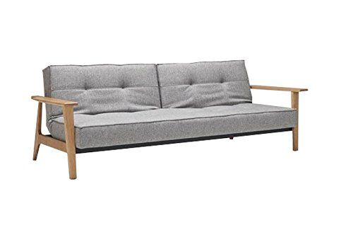 Innovation-Splitback-Frej-Schlafsofa-dunkelgrau-Flashtex-Per-Weiss ...