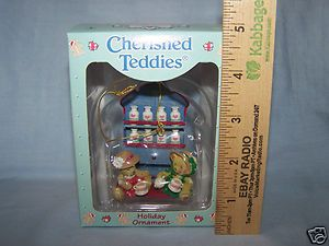 NIB, CHERISHED TEDDIES ORNAMENT - SEASONED FRIENDSHIP, BEARS WITH SPICES