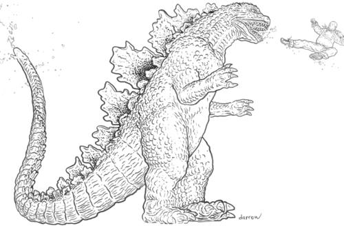 Contemporáneo Colorear Godzilla Inspiración - Ideas Para Colorear ...