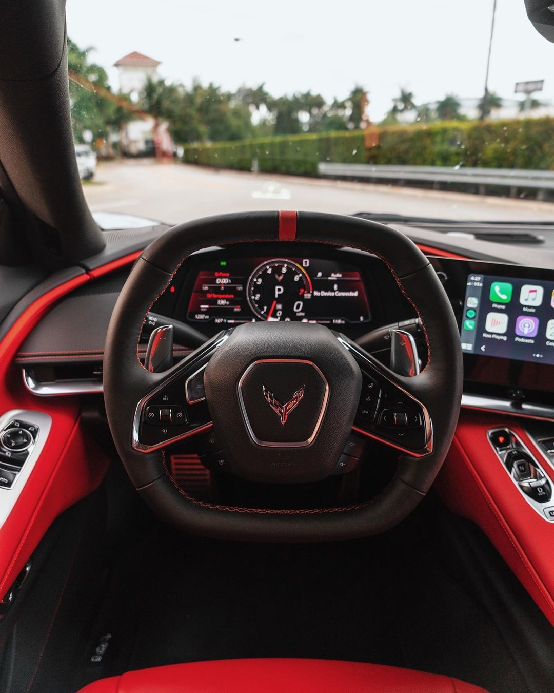 Gabe Florido On Instagram Some Photos Of The C8 Interior Adrenaline Red Corvettec8 C8 In 2020 Chevrolet Corvette Stingray Corvette Convertible Corvette Stingray
