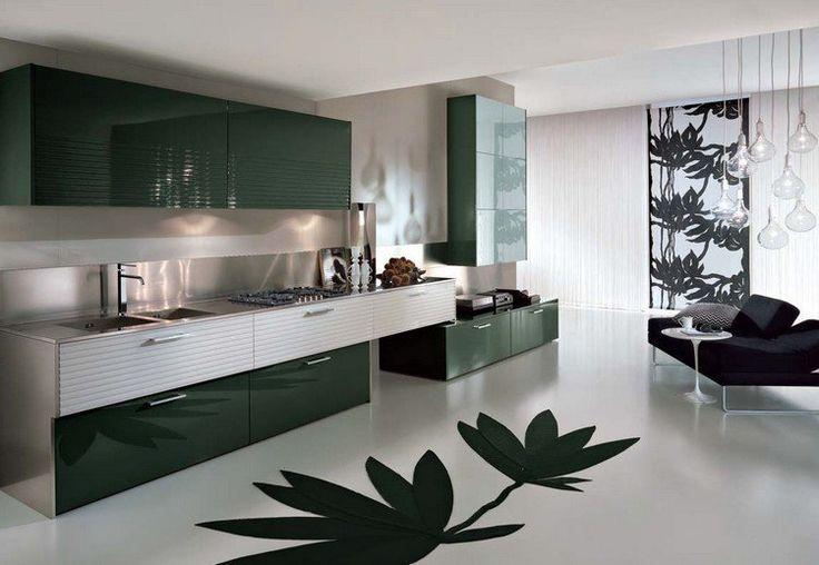 nice ide relooking cuisine modle de cuisine moderne en noir laqu et acier inox canap noir et suspens