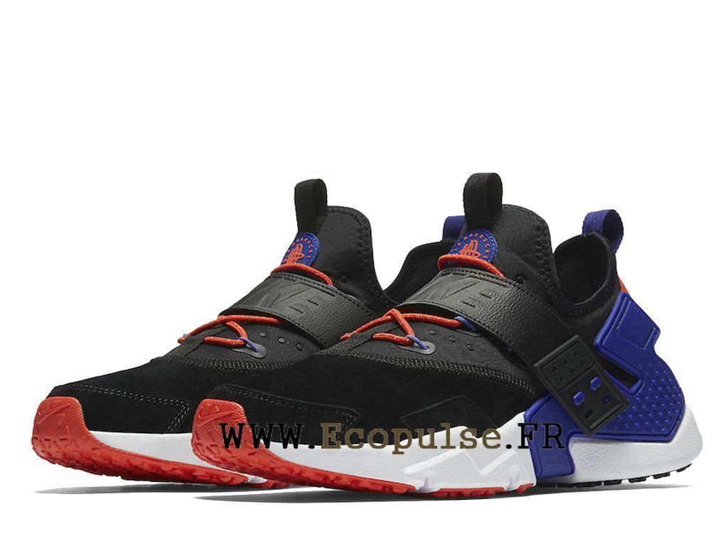 online store 4baf3 b9cbb ... france chaussures nike air huarache drift premium prix pas cher pour  homme noir bleu rouge ah7335002