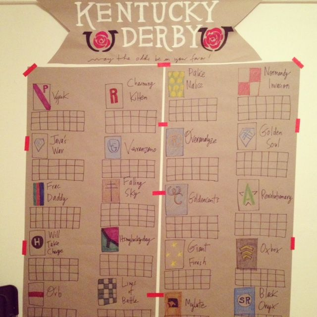 make your own kentucky betting board