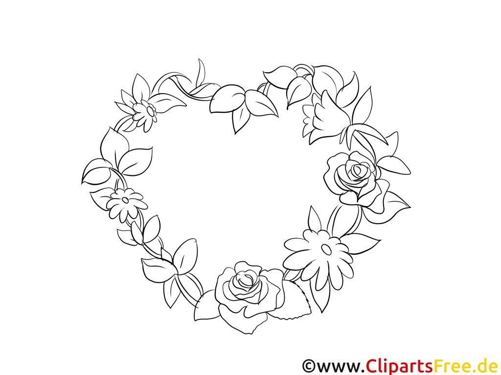 Blumenmotive Malvorlagen