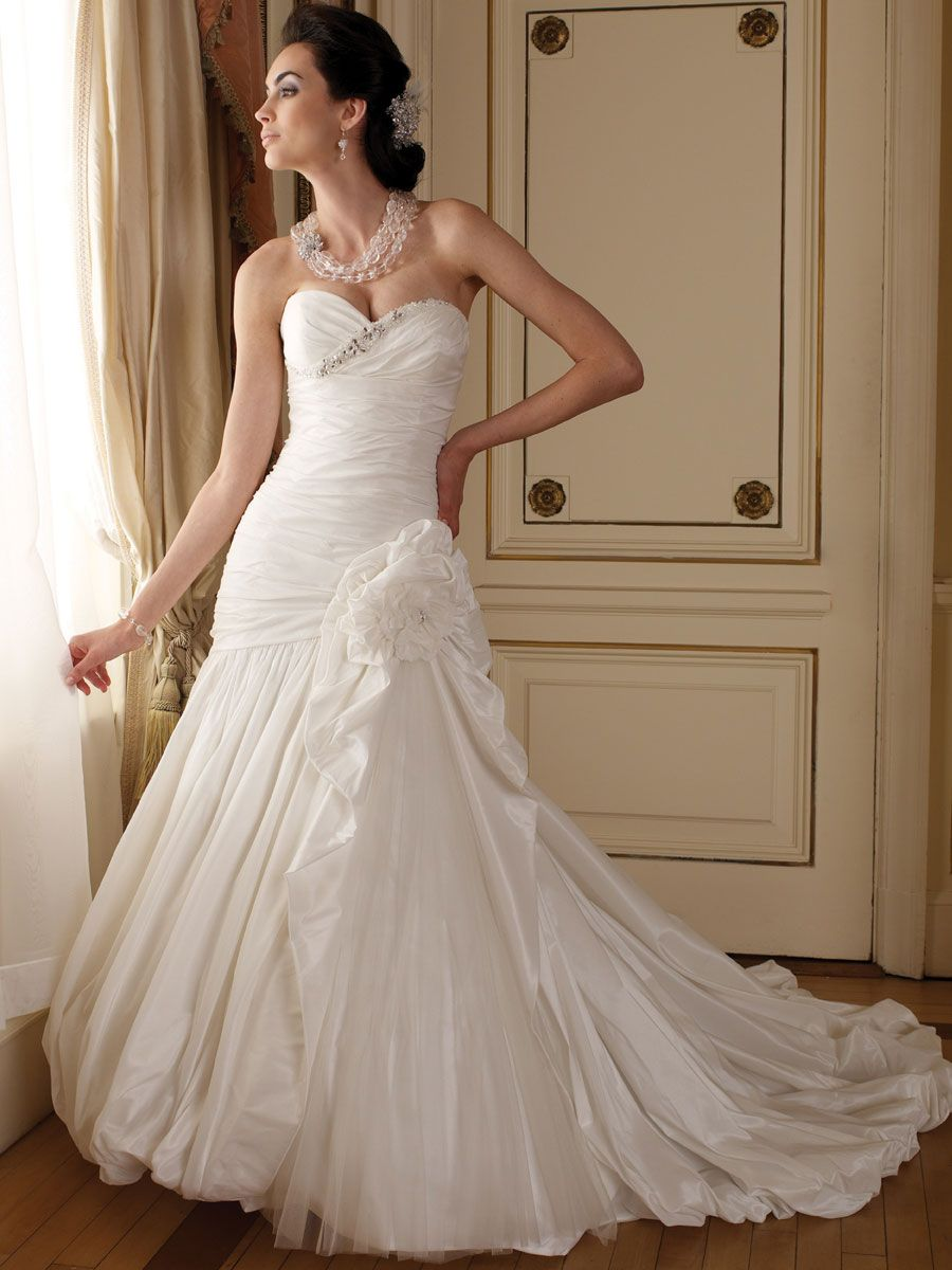 Perfect Strapless Sweetheart Ball Gown Winter Wedding Dress 2013 ...