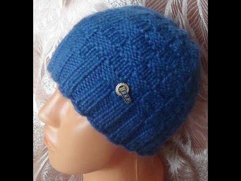 Вязание шапочки спицами. Легкий и быстрый способ связать шапочку спицами.. Уроки вязания на видео